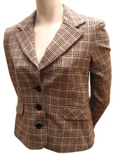 Juicy Couture Houndstooth; Jacket Wool Jacket black and white Blazer