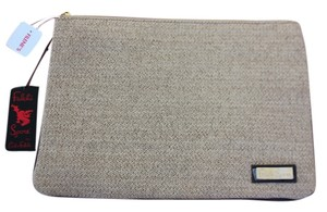 Carlos Falchi Tan Clutch