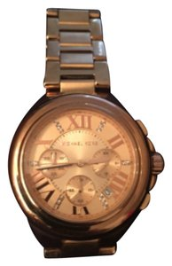 Michael Kors Limited Edition Michael Kors Rose Gold Large Face Watch with Stones