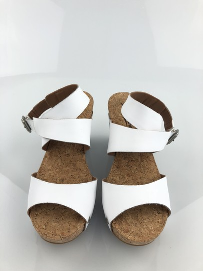 Lucky Brand Platform Pump White Wedges