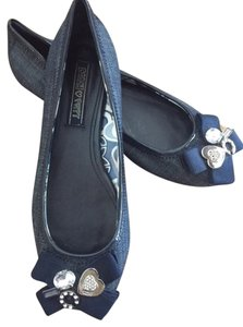 Coach Blue Denim Flats