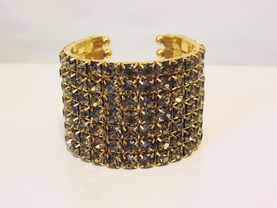 Real Collectibles by Adrienne Real Collectibles Crystal Cuff Bracelet Size 6 3/4 to 7 Inch