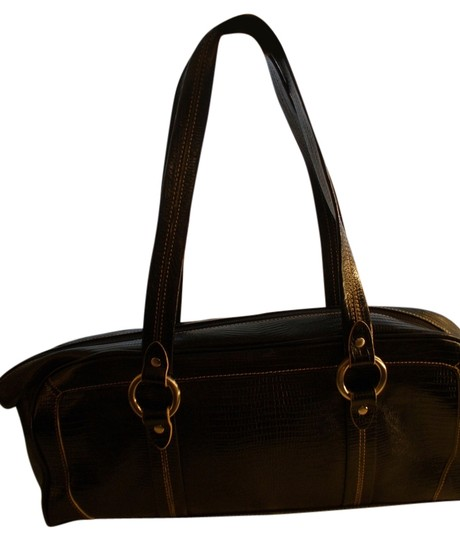 Preload https://img-static.tradesy.com/item/6657859/kenneth-cole-croc-look-black-leather-outer-fabric-interior-satchel-0-1-540-540.jpg