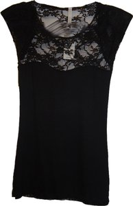 PRJCT Lace Party Top Black