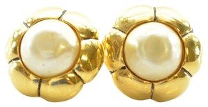 Chanel Vintage Chanel Gold Plated Earrings with Pearls