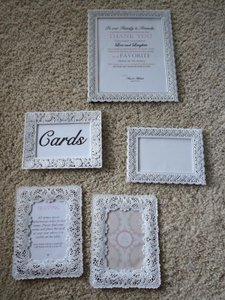 Vintage Style White Picture Frames