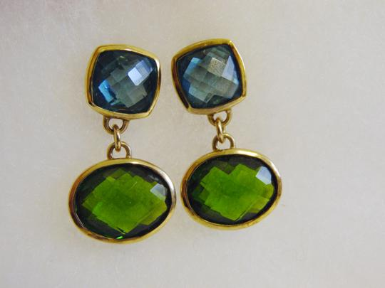 Technibond Technibond Multi-color Gemstone Pierce Dangle Earrings