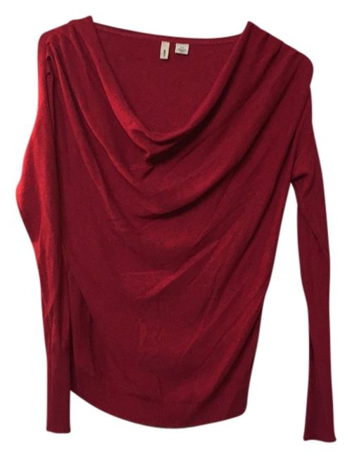 Preload https://item4.tradesy.com/images/anthropologie-red-cowl-neck-sweaterpullover-size-2-xs-6658798-0-0.jpg?width=400&height=650