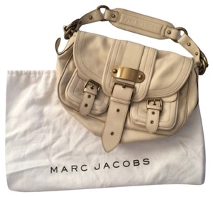 Marc Jacobs Leather Satchel in Cream