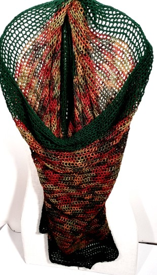 SensationWear Large Oversize Loosely Crocheted Knitted Wool Blended Wrap, Cape, Shawl, Blanket Throw