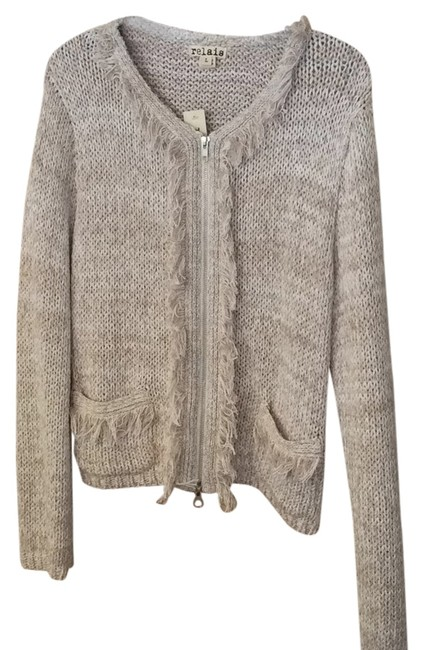 Preload https://img-static.tradesy.com/item/6659464/relais-knitware-linenwhite-fringe-zipper-cardigan-size-12-l-0-0-650-650.jpg