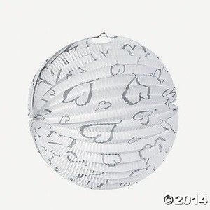 Six 16 Inch White/silver Heart Paper Lanterns