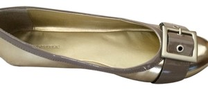 Banana Republic Gold and Taupe Flats