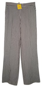 Etro Striped Linen Straight Pants