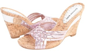 Gianni Bini Cork Wedge Brazil Pink Silver Wedges