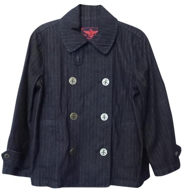 Preload https://img-static.tradesy.com/item/6660061/ralph-lauren-dark-blue-denim-w-red-pinstripe-double-breasted-peacoat-large-size-12-l-0-0-650-650.jpg