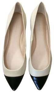 Banana Republic White and Black Flats