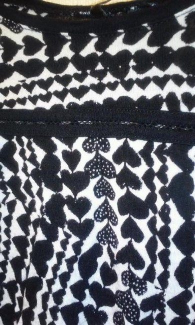 H&M Top black and white