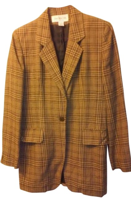 Preload https://img-static.tradesy.com/item/6661039/jones-new-york-brown-and-black-plaid-and-blazer-size-4-s-0-0-650-650.jpg