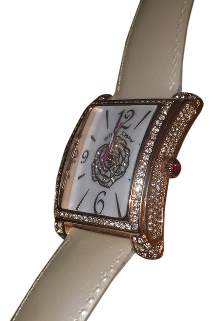 Item - Opal Face. Ivory Band. Rose Gold Watch