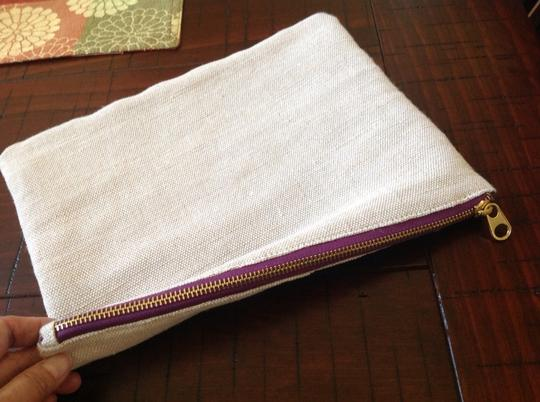 Other BEIGE CANVAS COSMETIC/POUCH BAG