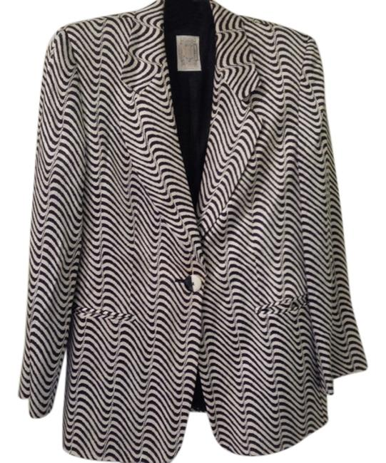 Gianfranco Ferre Zebra Print Viscose cream and black Blazer