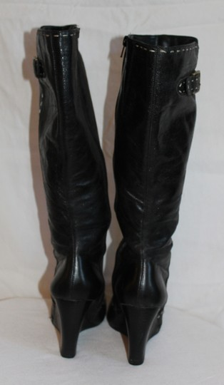 Diba Black with White Piping Boots