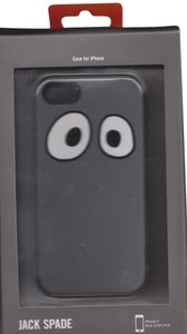 Jack Spade Jack Spade Googly Eyes Grey Silicone iPhone 5/5S Case Cover