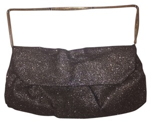 BCBGMAXAZRIA Black and gold shimmer blend Clutch