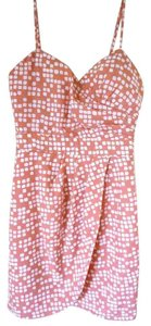 Modcloth Pink Peach Party Polka Dot Dress