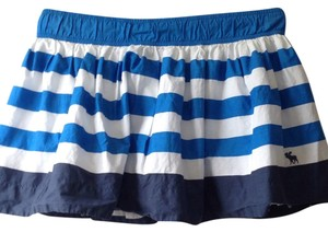 Abercrombie & Fitch Mini Skirt Blue and White
