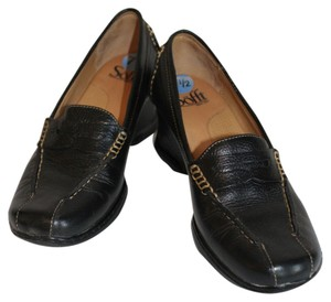 Söfft Black with Beige Piping Wedges