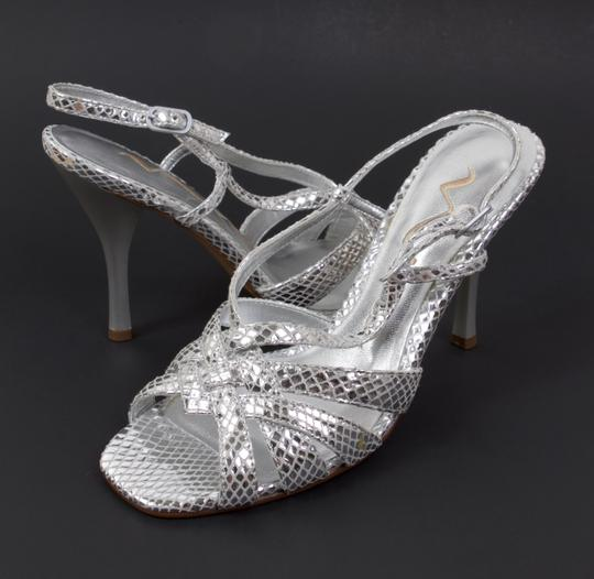 Nina Snakeskin Wedding Evening Silver Formal