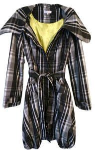 Other Trench Plaid Belted Raincoat