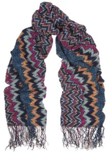 Missoni Missoni Zigzag Scarf W/Fringe Long Scarf New With Tags
