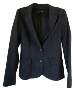 Club Monaco Pinstripe Lined Wool Black; Grey Blazer