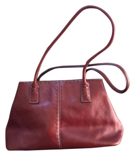 Item - Zb9009 Rust/Brown Red Leather Satchel