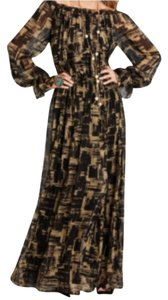 Black and Beige Maxi Dress by Rachel Zoe