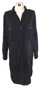 James Perse short dress Black Long Sleeve Button Front on Tradesy