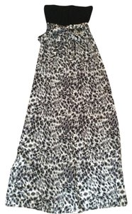 Black and grey cheetah print Maxi Dress by Love, Fire