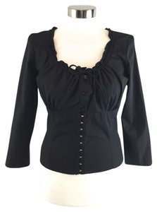 Ashley O'Rourke Empire Waist Top Black
