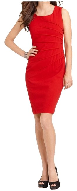 Preload https://img-static.tradesy.com/item/6668764/calvin-klein-red-knee-length-short-casual-dress-size-14-l-0-0-650-650.jpg