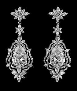Special Listing For Laura Highest Quality Cz Drop Statement Bridal Earrings