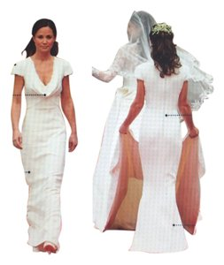 Alexander mcqueen off white wf0 288071 mid length formal dress size alexander mcqueen wedding pippa middletwon silk chiffon kate middleton dress junglespirit Image collections
