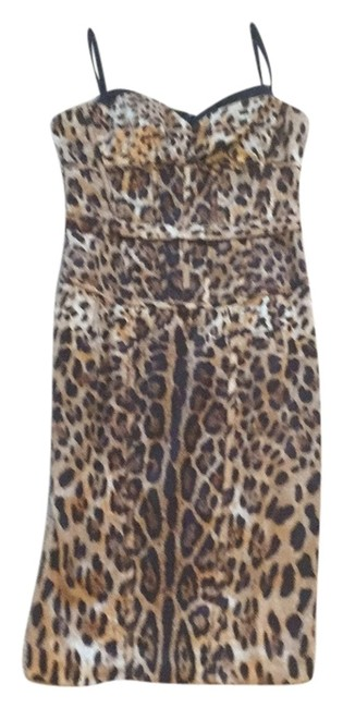 Preload https://item2.tradesy.com/images/mandalay-leopard-black-and-brown-mid-length-cocktail-dress-size-8-m-6669361-0-0.jpg?width=400&height=650