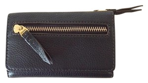 Fossil Fossil Black Leather Wallet with Gold Hardware