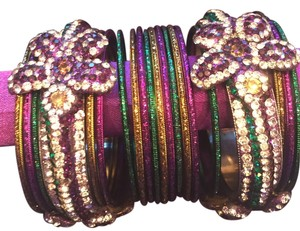 Swarovski Amazing Bundle Deal! 26 New Bangle Bracelets In Mardi Gras Colors