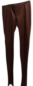 Dolce&Gabbana Boot Cut Pants Luggage brown leather