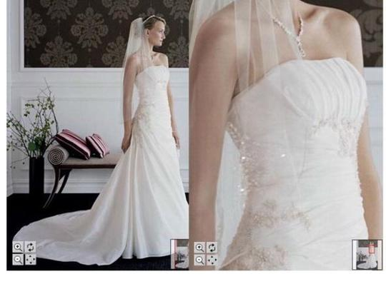 Preload https://img-static.tradesy.com/item/66744/david-s-bridal-ivory-taffeta-style-t9579-traditional-wedding-dress-size-12-l-0-0-540-540.jpg