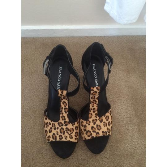 Franco Sarto Black/ leopard Sandals